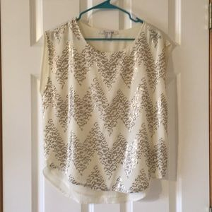 Forever 21 gold sequin blouse, small